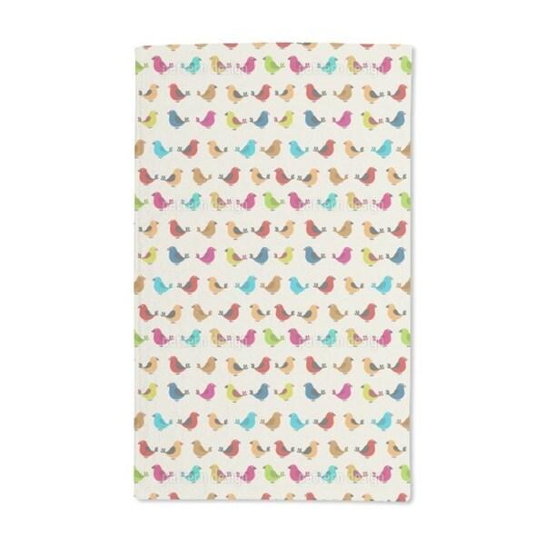 Tweeting Birds Hand Towel (Set of 2)