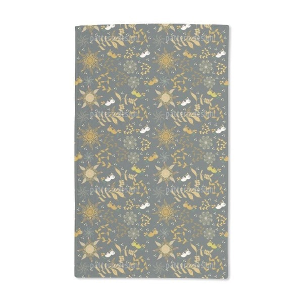 Weird Birds Fly at Night Hand Towel (Set of 2)