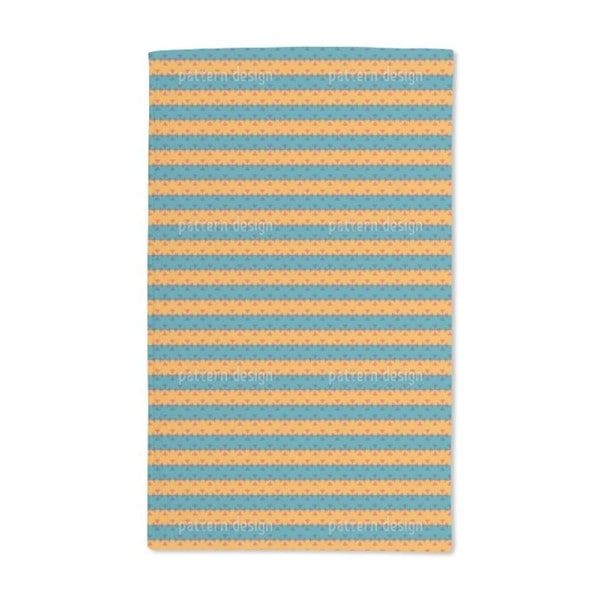 Stripe Contrast Hand Towel (Set of 2)