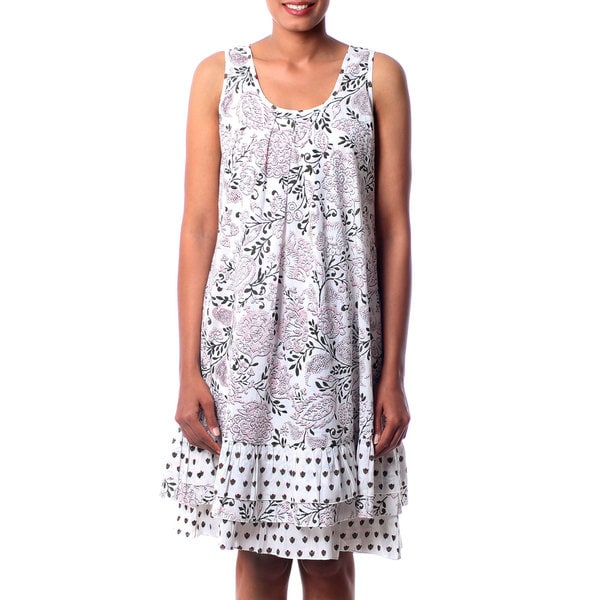 Handmade Cotton 'Earth Collection' Dress (India) 20597107