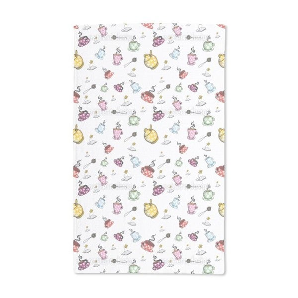 Tea Time With Friends Hand Towel (Set of 2)