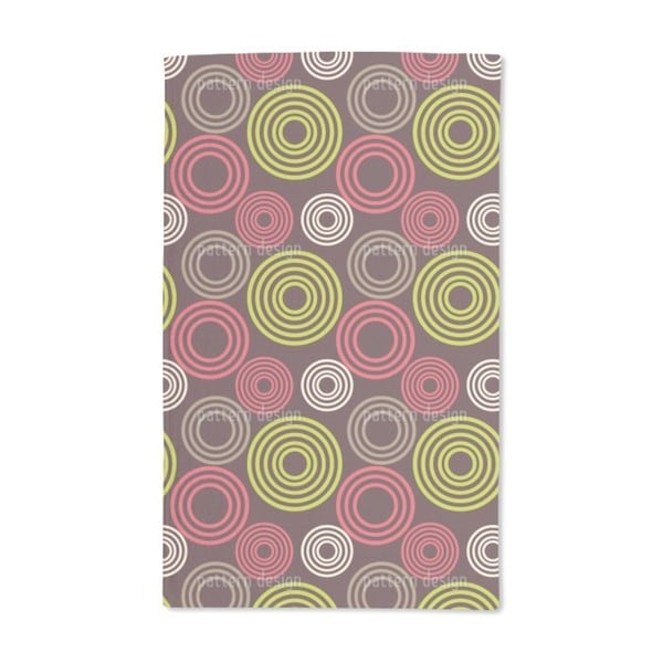 Circle Profiles Hand Towel (Set of 2)
