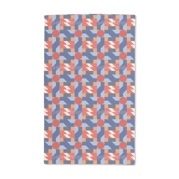 Retro Geometry Hand Towel (Set of 2)