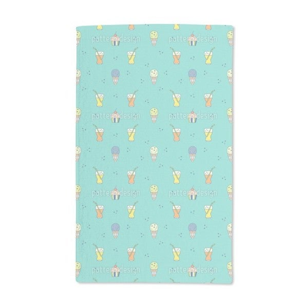 Ice Cream and Ice Tea Hand Towel (Set of 2)