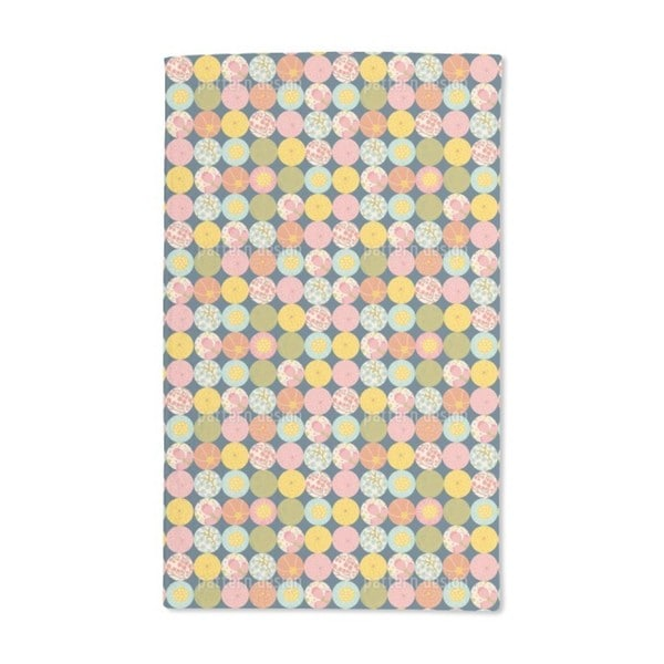 Polka Dot Flora Hand Towel (Set of 2)