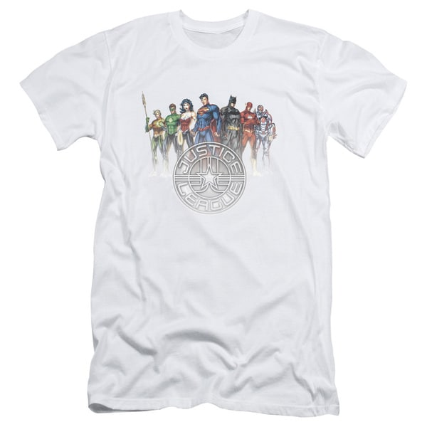JLA/Circle Crest Short Sleeve Adult T-Shirt 30/1 in White