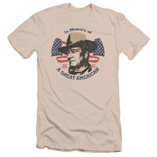John Wayne/Great American Short Sleeve Adult T-Shirt 30/1 in Cream