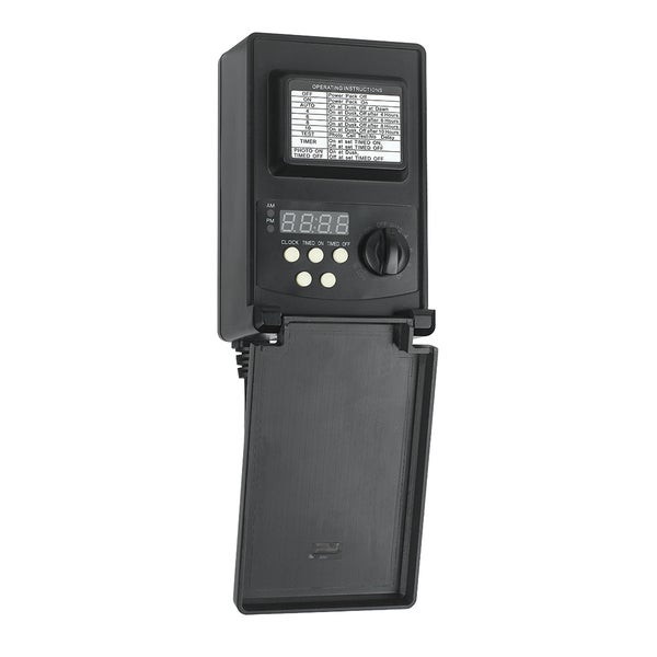 Low-voltage 45-watt Black Plastic Digital Transformer