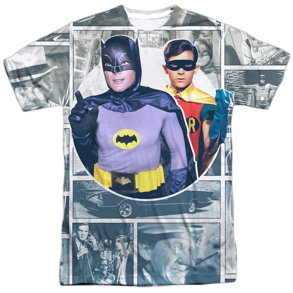 Batman Classic Tv/60S Panels (Front/Back Print) Short Sleeve Adult Poly Crew in Sublimate White