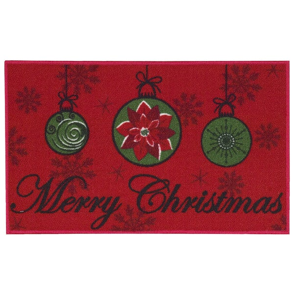 Nourison Essential Elements Merry Christmas Light Red Accent Rug (1'5 x 2'4) 20600165