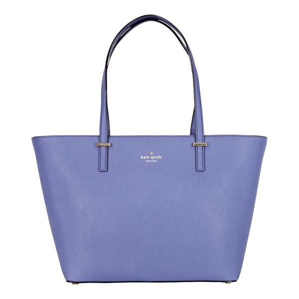 Kate Spade Cedar Street Small Harmony Oyster Blue Leather Tote Bag