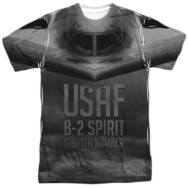 Air Force/Stealth (Front/Back Print) Short Sleeve Adult Poly Crew in Sublimate White 20601669