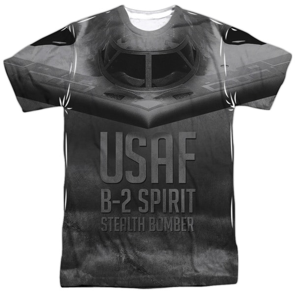 Air Force/Stealth Short Sleeve Adult Poly Crew in Sublimate White