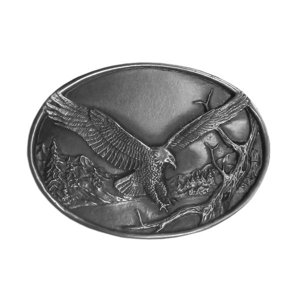 Small Eagle Antiqued Metal Belt Buckle