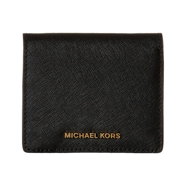 Michael Kors Jet Set Black Travel Saffiano Leather Card Holder