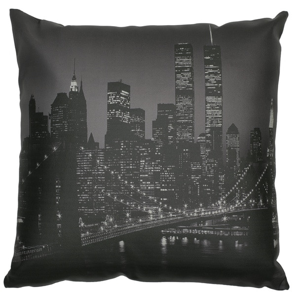 Brooklyn Bridge at Night Pillow