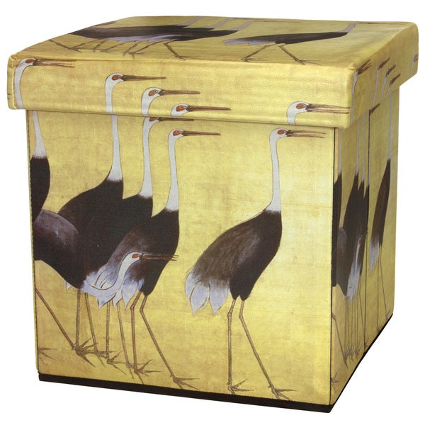 March of the Cranes Storage Ottoman (China)