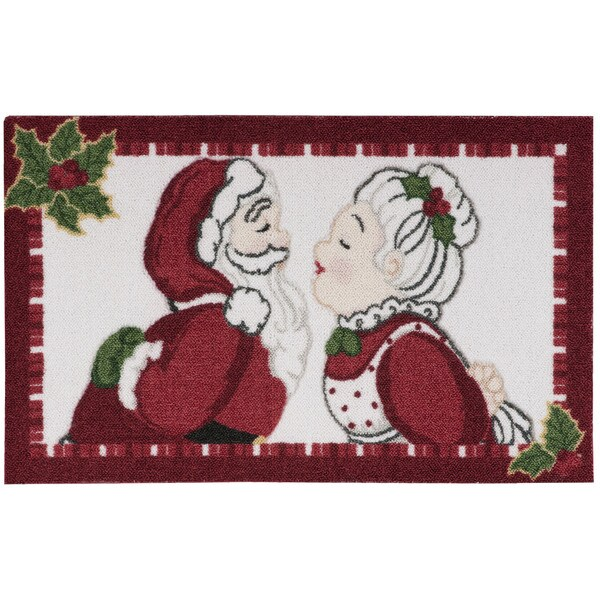 kathy ireland Once Upon a Christmas White Accent Rug (1'8 x 2'8) by Nourison