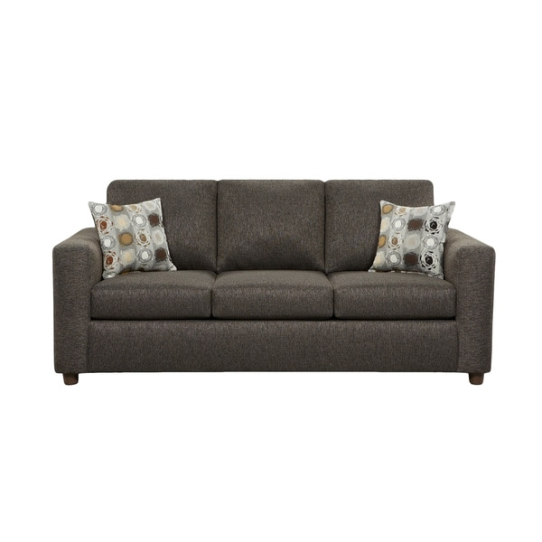 Chester Charcoal Grey Sleeper Sofa with Accent Pillows