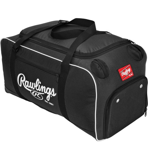 Rawlings Covert Black Baseball or Softball Bat Duffel Bag 20605588