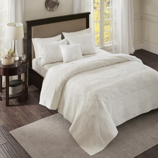 Madison Park Peony Ivory Coverlet Set
