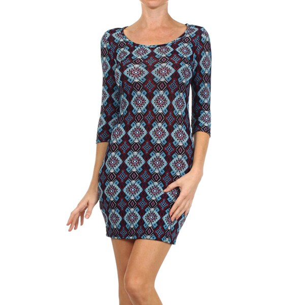 Women's Rayon/Spandex Body-con Mini Dress