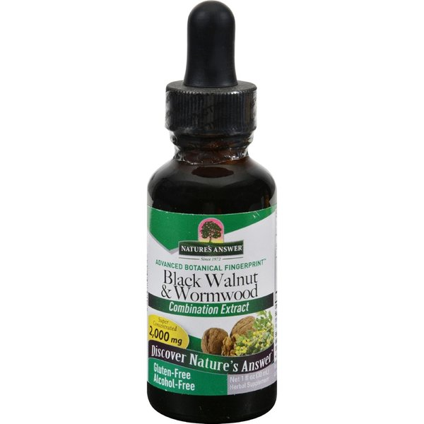 Natures Answer 1-ounce Black Walnut and Wormwood Combination Extract