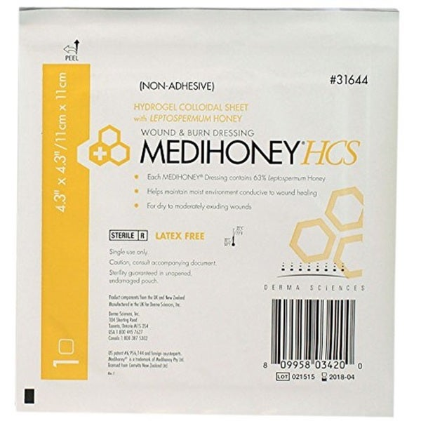 Medihoney 31644 HCS Nonadhesive Burn and Wound Dressing