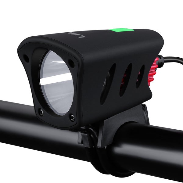 IPX65 Rechargeable Waterproof 1200-lumen Cree Bike Light with Red Bike Tail Lights