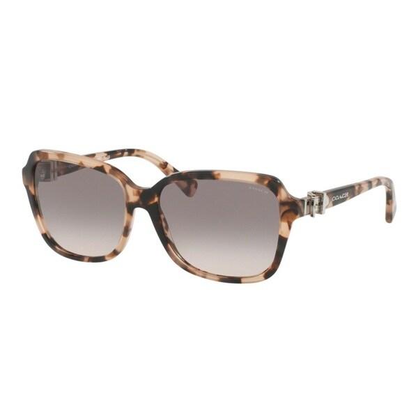 Coach HC8179 L1598 54033B Peach Tortoise Womens Plastic Square Sunglasses