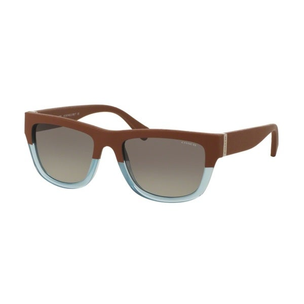 Coach HC8174Q L159 538111 Saddle Crys Cornflower/Saddle Womens Plastic Rectangle Sunglasses