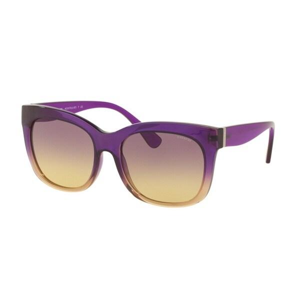 Coach HC8173 539070 Purple Yellow Crystal Grad Womens Plastic Square Sunglasses