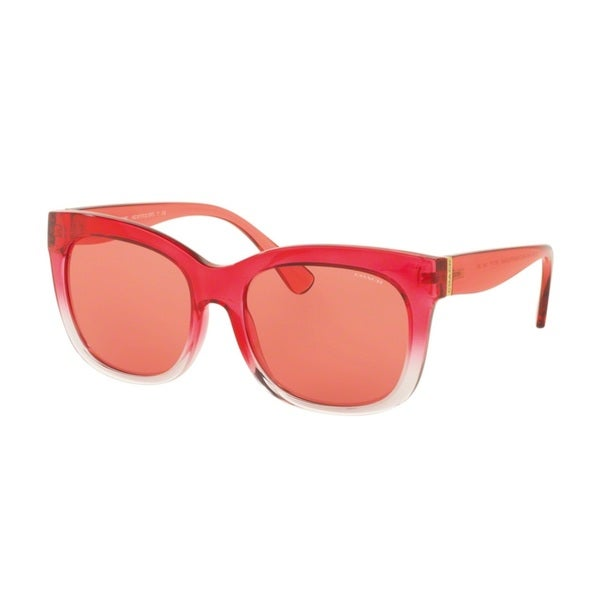 Coach HC8173 537284 Red Jelly Crystal Pink Grad Womens Plastic Square Sunglasses