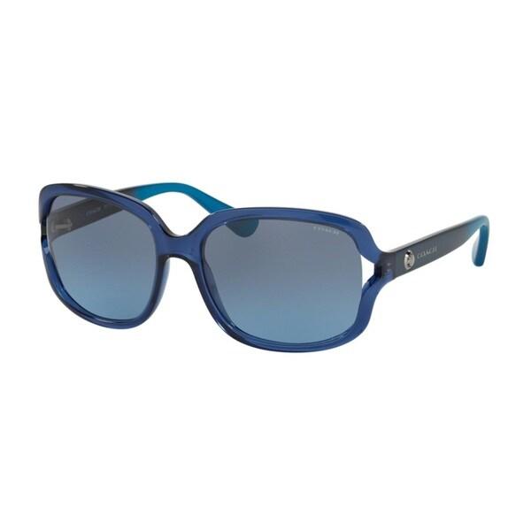 Coach HC8169 L149 535217 Crys Navy/Crys Navy Azure Grad Womens Plastic Square Sunglasses