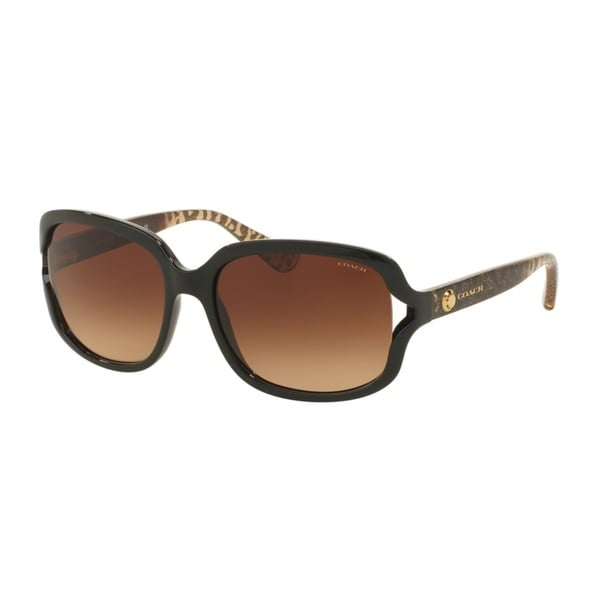 Coach HC8169 L149 535313 Black/Wild Beast Womens Plastic Square Sunglasses
