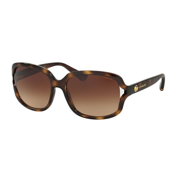 Coach HC8169 L149 512013 Dark Tortoise Womens Plastic Square Sunglasses