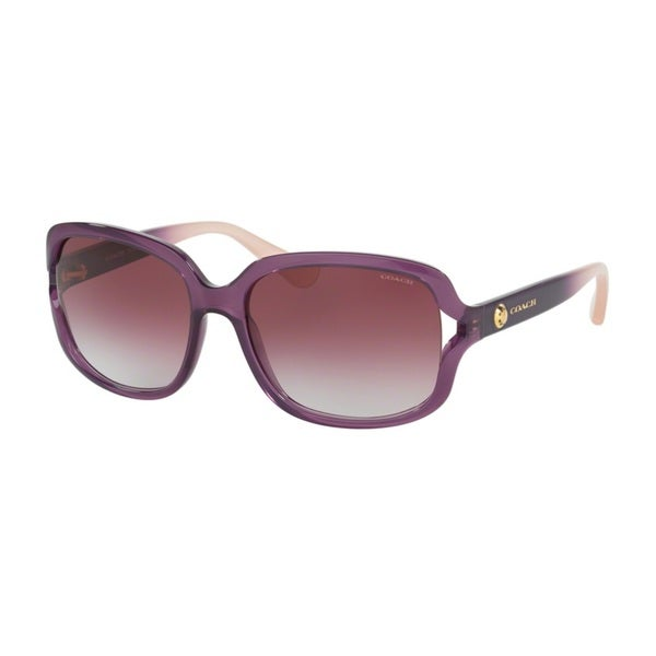 Coach HC8169 L149 53518H Crys Plum/Crys Plum Blush Grad Womens Plastic Square Sunglasses