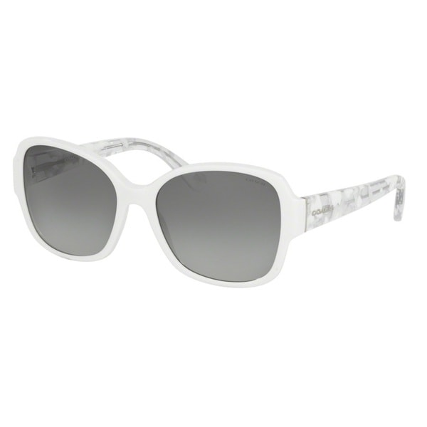 Coach HC8166F 536011 White/White Crystal Mosaic Womens Plastic Butterfly Sunglasses