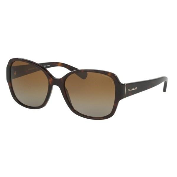 Coach HC8166F 5120T5 Dark Tortoise Womens Plastic Butterfly Sunglasses