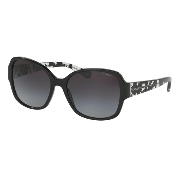 Coach HC8166F 534811 Black/Black Crystal Mosaic Womens Plastic Butterfly Sunglasses