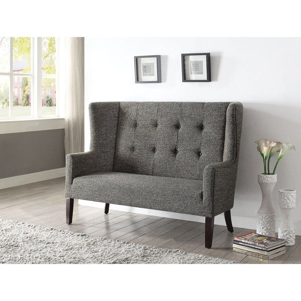 Paloma Grey Fabric Settee