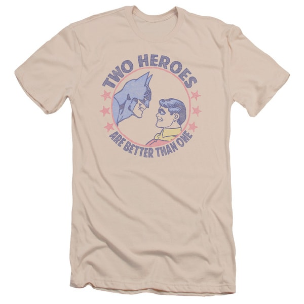 DC/Two Heroes Short Sleeve Adult T-Shirt 30/1 in Cream