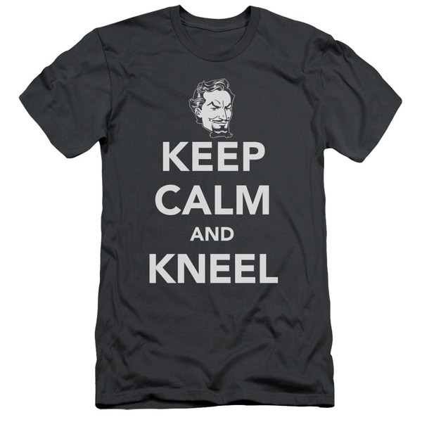 DC/Keep Calm and Kneel Short Sleeve Adult T-Shirt 30/1 in Charcoal