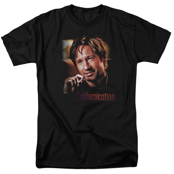 Californication/Smoker Short Sleeve Adult T-Shirt 18/1 in Black