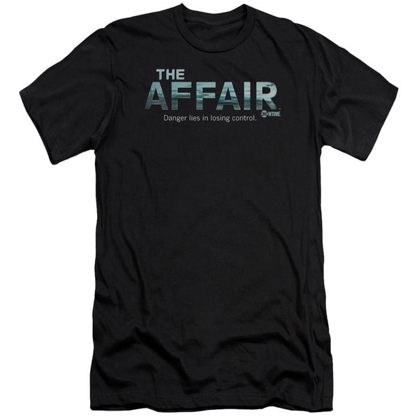 Affair/Ocean Logo Short Sleeve Adult T-Shirt 30/1 in Black