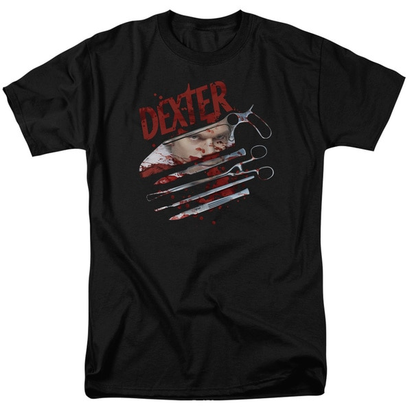 Dexter/Blood Never Lies 2 Short Sleeve Adult T-Shirt 18/1 in Black
