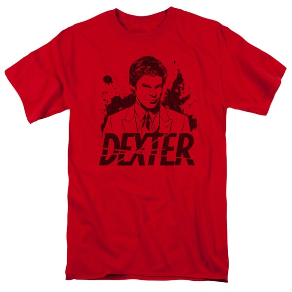 Dexter/Splatter Dex Short Sleeve Adult T-Shirt 18/1 in Red
