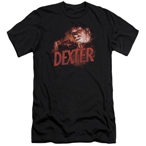 Dexter/Drawing Short Sleeve Adult T-Shirt 30/1 in Black