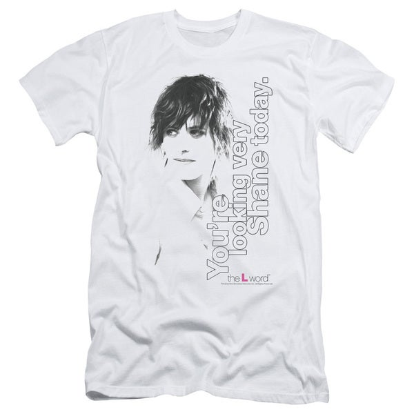 The L Word/Looking Shane Today Short Sleeve Adult T-Shirt 30/1 in White