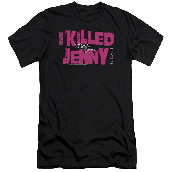 The L Word/I Killed Jenny Short Sleeve Adult T-Shirt 30/1 in Black